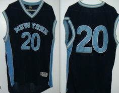 sz XL NEW YORK #20 Basketball Jersey sewn embroidered blue  #NY #Jersey #NewYork #Basketball