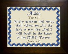 Adrian - Name Blessings Personalized Cross Stitch Design from Joyful Expressions Bless The Lord, Color Kit, Light Of Life, Names With Meaning, Cross Stitch Designs, Stitch Patterns, Kid Names, Gifts For Family, Custom Framing