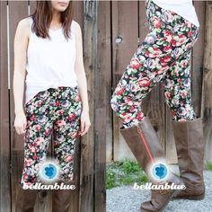 The LUCY LEE floral leggings - BLACK ️HPx2Buttery soft & breathable. HELLO Spring! Super cute with boots or sandals. ONE SIZe fits MOST! Fits size S - L. ‼️NO TRADE, PRICE FIRM‼️ Pants Leggings