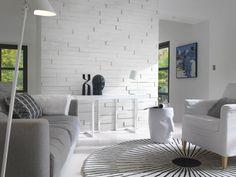 Lambris PVC, MDF : 20 modèles - Côté Maison Foyer, Bean Bag Chair, 3 D, Stairs, Architecture, Interior, Room, Inspiration, Arquitetura