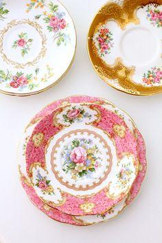 Vintage china collection by citrusandorange, via Flickr