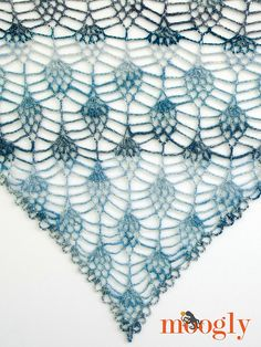 This wonderful lacy shawl is designed by Tamara Kelly of Moogly, a well-loved crochet pattern site here at Make It Crochet! Pineapples are one of the most popular motifs in crochet design and this stitch pattern is especially lovely. I've used this new yarn from Lion Brand called Sha