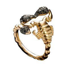 Solange Azagury-Partridge bague Scorpion http://www.vogue.fr/joaillerie/shopping/diaporama/bijoux-bestiaire-sensuel-animaux-serpent-aigle-panda/12349/image/738935#solange-azagury-partridge-bague-scorpion