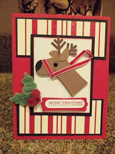 Reindeer Stocking Punch Art Stampin' UP! SU