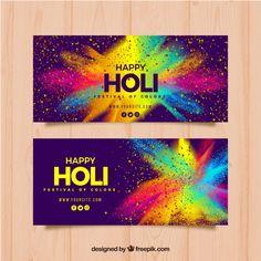 Discover thousands of free-copyright vectors on Freepik Festival Holi, Holi Festival Of Colours, Holi Colors, Festival Flyer, Festival Posters, Happy Holi, Header Banner, Banners, Best Visiting Card Designs