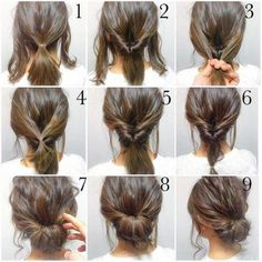 Top 10 Messy Updo Tutorials For Different Hair Lengths Easy, hope this works out quick morning hair! Top 10 Messy Updo Tutorials For Different Hair Lengths Easy, hope this works out quick morning hair! Work Hairstyles, Pretty Hairstyles, Hairstyles 2018, Short Hair Ponytail Hairstyles, Date Night Hairstyles, Easy Morning Hairstyles, Short Updo Hairstyles, Waitress Hairstyles, Rainy Day Hairstyles