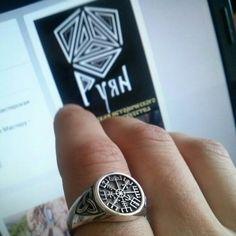 #Vegvisir #ring. #Triskele #Norse #Viking #Magic #Compass. #Vikings #jewelry #vikingjewelry #vikingring