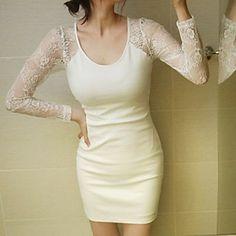 Lace Stitching Nuevo Estilo Vestido ajustado atractivo de las mujeres – CLP $ 11.425