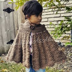 Crochet PATTERN | Hooded Cape | Child to Adult Size | PDF Digital Download