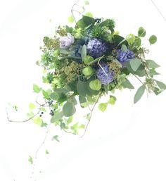 ブーケ 秋の紺 モントレ赤坂様へ : 一会 ウエディングの花