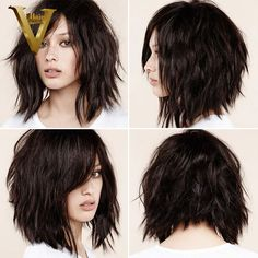 Glueless-Full-Lace-Wigs-For-Black-Women-Natural-Wave-Brazilian-Virgin-Hair-Short-Wavy-Hair-Bob.jpg (800×800)