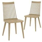 Found it at Temple & Webster - Oak Spindle Retro Dining Chairs