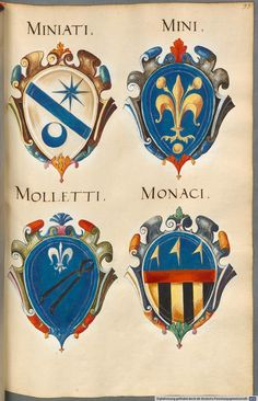 Insignia Florentinorum - BSB Cod.icon. 277, [S.l.] Italian, 1550-1555, http://opacplus.bsb-muenchen.de/search?oclcno=165874366 view the whole book here: http://daten.digitale-sammlungen.de/~db/bsb00001424/image_1