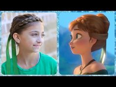 Frozen Inspired Anna's Coronation Hairstyle Tutorial | A CuteGirlsHairstyles Disney Exclusive - YouTube