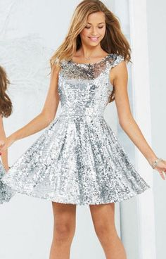 BB Dakota Holly Silver Sequin Dress | Bb, Silvers and Silver ...