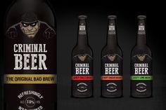 Criminal Beer on Packaging of the World - Creative Package Design Gallery