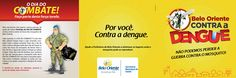 Folder - Verso Campanha de combate a Dengue - Belo Oriente - MG