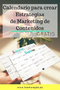 Calendario para comenzar a planear las estrategias de marketing y acciones para  rentabilizar tu negocio o marca