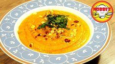 Kürbiscremesuppe mit Haselnüssen - Rezept von Nobbi´s Kochstunde Zucchini, Thai Red Curry, Ethnic Recipes, Food, Youtube, Vegetarische Rezepte, Cooking, Browning, Summer Squash