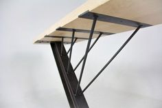 steel furniture A custom table made of maple, steel, and concrete. Donated to Montana State University for the Celebration of Architecture Berkas, Zach George, Taylor Proctor. Welded Furniture, Car Furniture, Steel Furniture, Furniture Design, Wood Steel, Wood And Metal, Industrial Style Furniture, Wood Table, State University