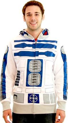 Transform into R2-D2 with this awesome costume sweatshirt!.