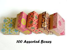 Packaging boxes-10% discount,100 assorted Indian print and Gold 3x3 x1.5 inch ,Jewelry Packaging Box, Wedding favor box, Bridesmaid Gift box by indianbazzaar on Etsy https://www.etsy.com/listing/185735711/packaging-boxes-10-discount100-assorted