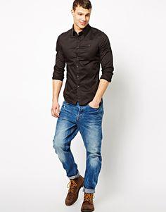 G-Star #Correct #Slim fit shirt black