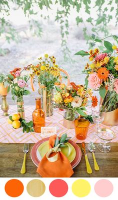 8 Color Inspiring Place Settings: Bright + Beautiful http://www.theperfectpalette.com/2014/05/8-color-inspiring-place-settings-bright.html