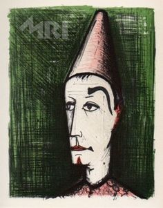 133A 136C Bernard Buffet Lithographs, Faces Suite, pr : Lot 133A