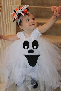 DIY Ghost Tutu Costume made from ALL dollar store stuff
