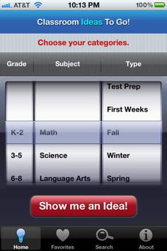 Classroom ideas App from Scholastic - something to check out...