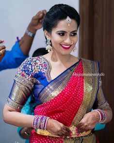 Wedding Saree Blouse Designs, Saree Wedding, Anarkali Dress Pattern, Marathi Saree, Green Blouse, Beautiful Indian Actress, Bridal Looks, Bride, Photo And Video