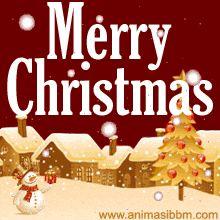 Dp Bbm Merry Christmas Gif