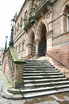 Chester Town Hall steps