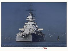 Bismarck | A very impressive bows-on view of the Battleship … | Flickr