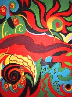 SEM LIMITES - OST - 60x80cm, 2007 - ROSE CANAZZARO -  APRESENTADA EM SÃO PAULO, BRASIL E BIENAL DE ARTES - MÉXICO