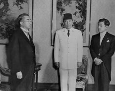 Soekarno and Hirohito