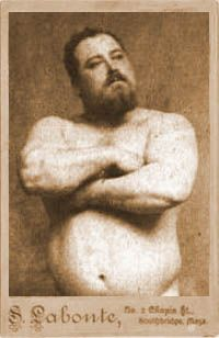 Strongest Man.weighing close to 18 pounds at birth and, from an early age, those around him were impressed with his natural strength. At the age of twelve Louis was a lumberjack and stories of his strength became legendary amongst his peers and coworkers. In 1878, Standing just five feet and ten inches – but weighing in at over 230 pounds – Louis    stunned the crowd by lifting a horse clear off the ground.