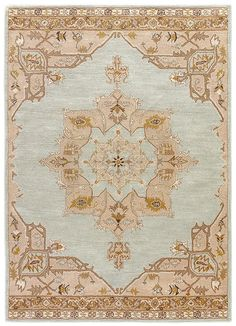 The Jaipur Poeme Helda Rug will bring a new layer of elegance to any traditional design space. This rug is hand-tufted of wool for exceptional softness and durability, and it features an intricate medallion pattern filled with rich colors. Tan Rug, Grey Rugs, Beige Area Rugs, Jaipur Rugs, Hand Knotted Rugs, Home Interior, Colorful Rugs, Wool Rug, Rug Size