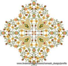 Islamic Art - Turkish Tazhib (Ornamentation through painting and miniature) - handicraft Motifs Islamiques, Islamic Motifs, Islamic Art Pattern, Arabic Pattern, Pattern Art, Galerie D'art, Turkish Art, Decoupage, Fabric Painting