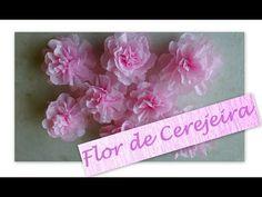 FLOR DE CEREJEIRA DE PAPEL CREPOM - PASSO A PASSO CHERRY BLOSSOM - YouTube