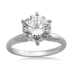 Madison Avenue Collection 14k Gold Round-Cut Swarovski Zirconia Solitaire Ring (2 cttw) Amazon Curated Collection. $219.00. All Madison Avenue Swarovski Zirconia pieces are laser inscribed to guarantee quality and authenticity.. Swarovski Cubic Zirconia stone is equivalent to 2 carats diamond total weight.. Made in United States