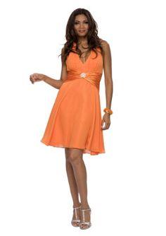 Kleid orange knielang