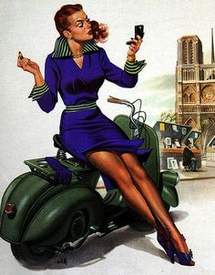 #Vespa #scooter #Pinup