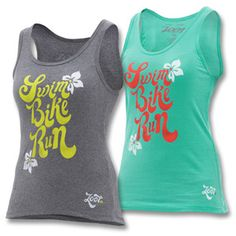 love this cute tank! where was this when I did my triathalon...