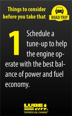 Schedule a tune-up to help the engine operate with the best balance of power and fuel economy. http://www.lubecity.ca/
