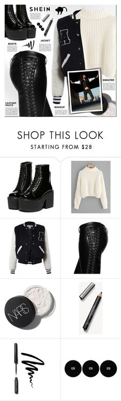 """shein"" by pankh ❤ liked on Polyvore featuring Sans Souci, Faith Connexion, Tiffany & Co., Converse, Burberry, Bobbi Brown Cosmetics and Edward Bess"