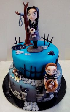The Addams Family cake Great Wednesday and Pugsley!