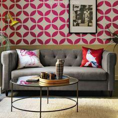 Plantilla para pintar y decorar paredes con efecto papel tapiz