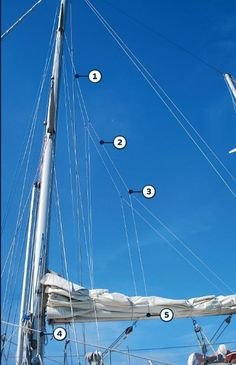 Is your main difficult to tame? Consider installing lazy jacks on your boat to handle your main with ease. Sailboat Living, Build Your Own Boat, Boat Projects, Boat Stuff, Dinghy, Sail Away, Boat Design, Small Boats, Boat Plans